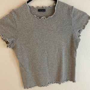 grey short sleeve top from brandy melville